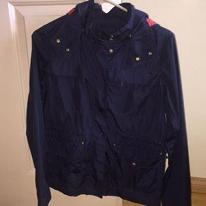 Zara basic JACKET navy blue XS